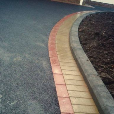 close up of tarmac driveway