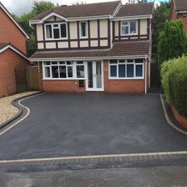 Black Tarmac and clients house