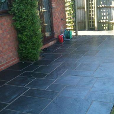 paved patio area