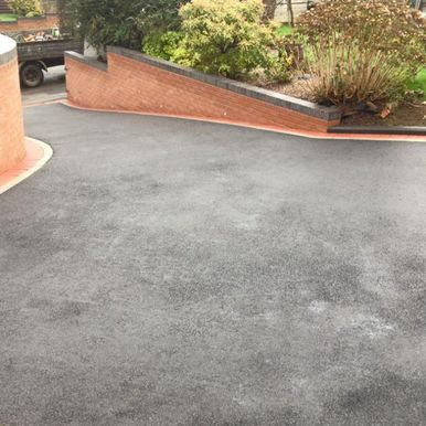 black tarmac